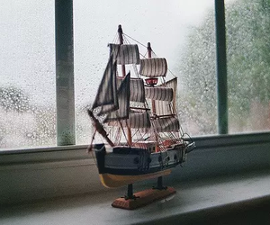 ship, photography, and rain image