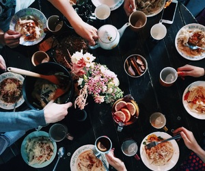 food and flowers image