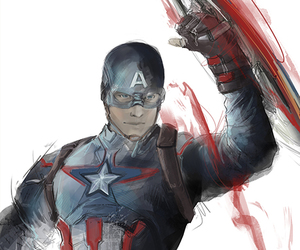 captain america, comics, and steve rogers image
