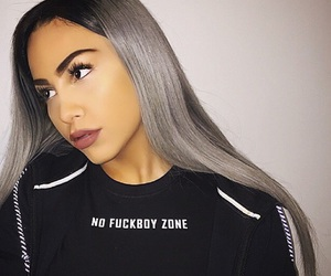beautiful, fashion, and grey hair image