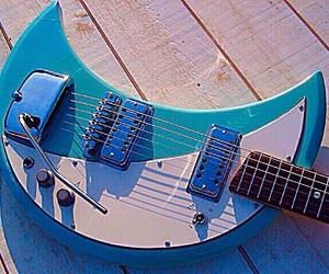 electric guitar, guitar, and music image