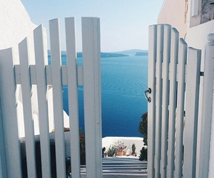 Greece, summer, and white image