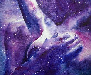 body, stars, and cosmos image