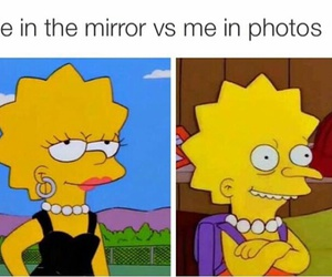 funny, lisa, and mirror image