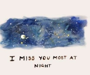 night, miss, and miss you image