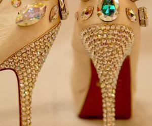 diamond, shoes, and sparkling image
