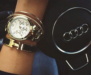 audi, watch, and car image