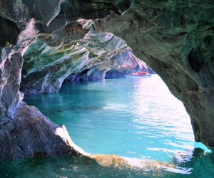 water, cave, and sea image