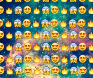emoji, wallpaper, and fire image