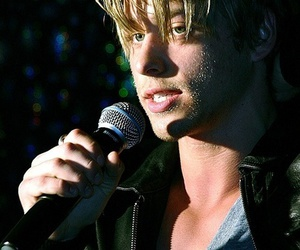 blond hair, mitch hewer, and handsome image