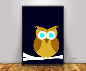 etsy, owls, and kids wall art image