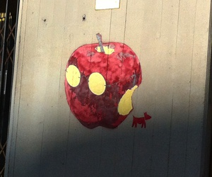 apple, graffiti, and italy image
