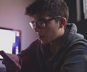 sean o'donnell, boy, and glasses image