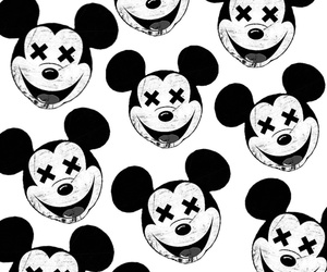 black and white and mickey mouse image
