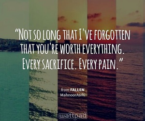 fallen, wattpad, and quotes image