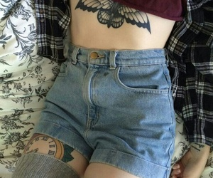 tattoo, grunge, and outfit image