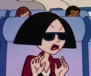 Daria, cartoon, and grunge image