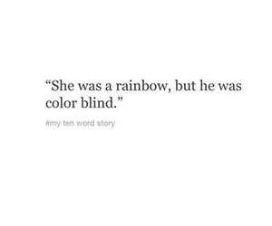 quotes, rainbow, and sad image