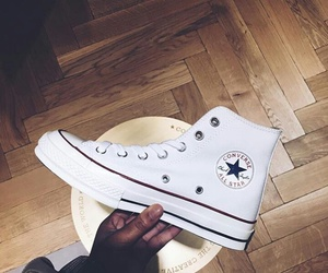 chuck taylor, shoes, and white image
