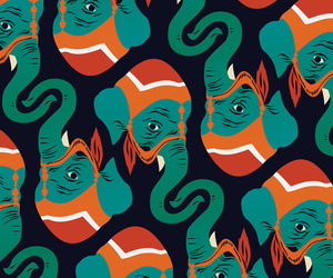 elephant and pattern image