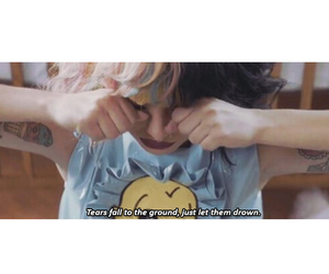 song, melanie martinez, and text image