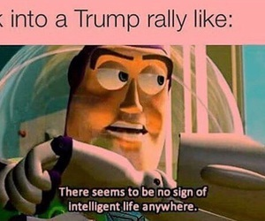 funny, toy story, and donald trump image