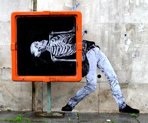 art, street art, and skeleton image