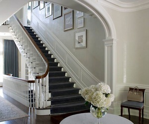 home, house, and staircase image