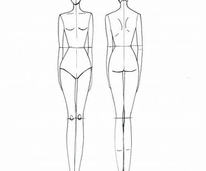girl, body, and pencil image