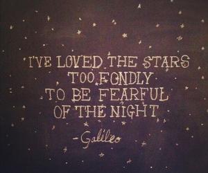message, night, and stars image