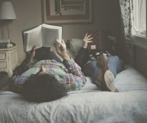book, love, and couple image