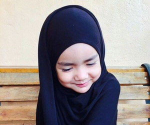 cute kids, hijab, and kids image