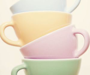 pastel and cup image