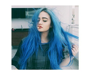 blue, girl, and smoke image