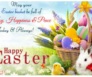 easter eggs, happy easter wishes, and easter greetings image