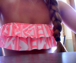bikini, summer, and braid image