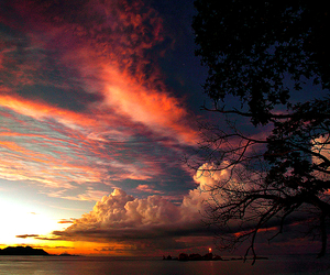 dramatic, sky, and sunset image