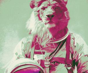 lion, astronaut, and hipster image