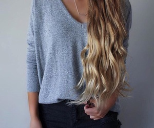 hair, girl, and clothing image