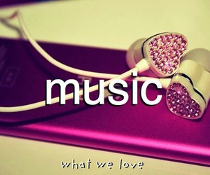 music, pink, and heart image