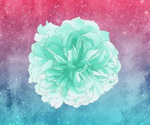 background, flower, and galaxy image