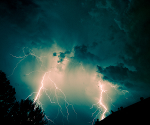 cloud, lightning, and nature image
