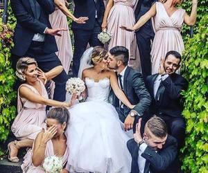 love, wedding, and bridesmaid image