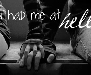 black and white, hello, and holding hands image