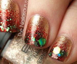 glamour, nails art, and naiłs image