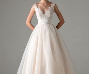 wedding, wedding dress, and anne barge image