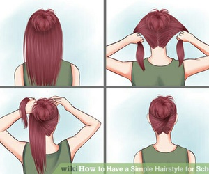 hairstyle, hair, and simple image
