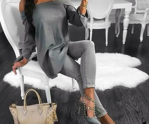 fashion, grey, and bag image