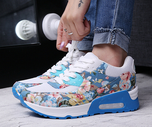 floral, sneakers, and womens shoes image