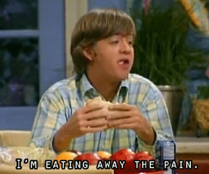 pain, food, and hannah montana image